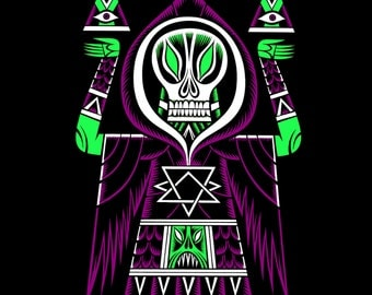 Thanatos by Martin Ontiveros American Apparel Tee Shirt