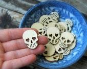 20 . 1 inch Sugar Skulls . Unfinished Wood . Sugar Skull Wedding Favors . Day of the Dead Dia De Los Muertos . Wood Skulls . Geocaching Swag