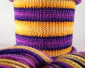 Parties Weren't Meant To Last: Hand-dyed gradient self-striping sock yarn, 80/20 SW merino nylon