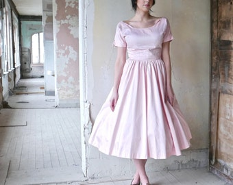 1950s Youth Guild of NY Pink Dress Size 4/6