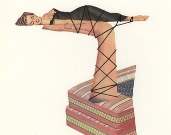 A cure for restless nights. Original collage by Vivienne Strauss.