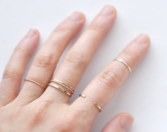 Tiny Oval Dot ring - sterling silver stacking ring - flat dot - minimal delicate jewelry - dainty thin ring - stackable midi ring - Orla 1mm
