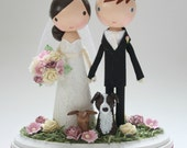 custom wedding cake topper - order for - LITLEFISH