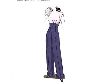 Decades of Style 1940 Empire Waist Trousers