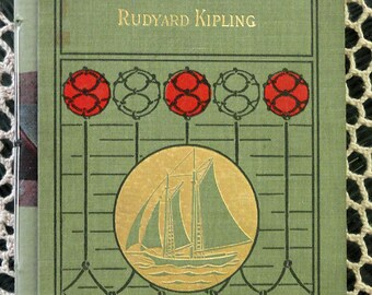 Handbound Concertina Travel Journal or Album From Vintage Book Kipling