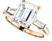 Private Listing for Sarah - celine ring - custom forever brilliant moissanite engagement ring, payment 4 of 4