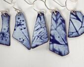 Mix and Match Cobalt Blue Enamel Earrings