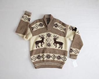 heavy wool sweater | mens ski sweater | mens sweater