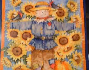 Welcome Fall 3D Scarecrow Wallhanging Panel