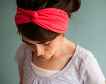 CORAL TWIST Stretch HEADWRAP Garlands of Grace headband hair headcovering