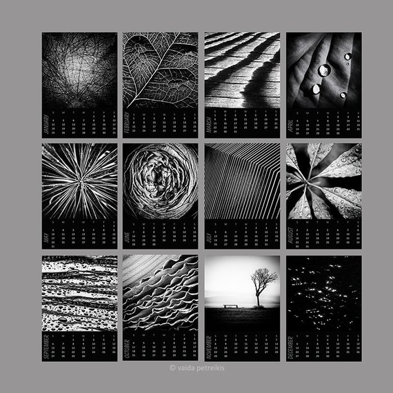 Calendar Abstract Art : Desk calendar abstract nature mini