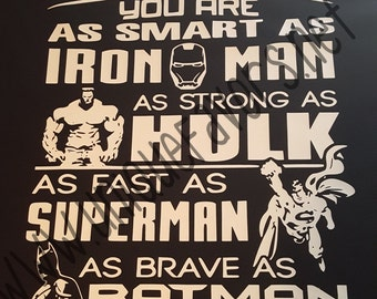 Daddy Superhero T-shirt. Other colors available!