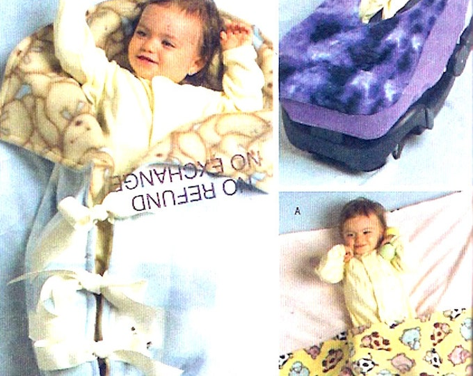 Baby Bunting wrap and carrier cover sewing pattern new moms gift pregnancy moms baby shower Butterick 4416 uncut