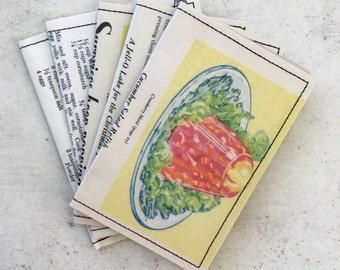 Slim Wallet- Vintage Cookbooks- Jello, Watkins Cook Book
