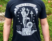 Pirate Shirt - Space Pirate Rum Unisex Men's T-shirt - Skull Mens Graphic Tee, Pirate Gifts, Dad Gift - Speculative Spirits