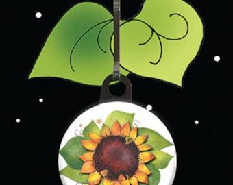 Zipper Charm - Sunflower