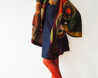 Plus Size Clothing, Kimono Jacket, Women,  Kimono Cardigan,  Fall Colors - MADE TO ORDER