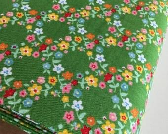 Backyard Roses, Backyard Roses Wreath in Green fabric, Discount fabric, Riley Blake Fabrics, Fabric by the yard, Choose your cut