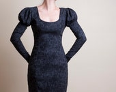 Black and Gray Pencil Dress with Long sleeves-Small (Sample Sale)