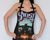 Ghost bc shirt tunic top mini dress black metal clothing alternative apparel altered band tee t-shirt rocker satanic inverted cross occult