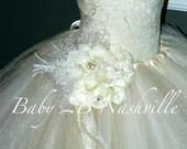 Ivory Dress Vintage Dress...