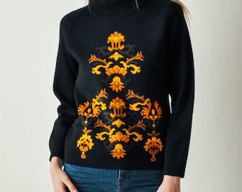 Vintage Black Turkish Sweater