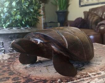 Wood Carved Turtle Sea Turtle Honu Mid Century modern Style Solid Wood TYCAALAK