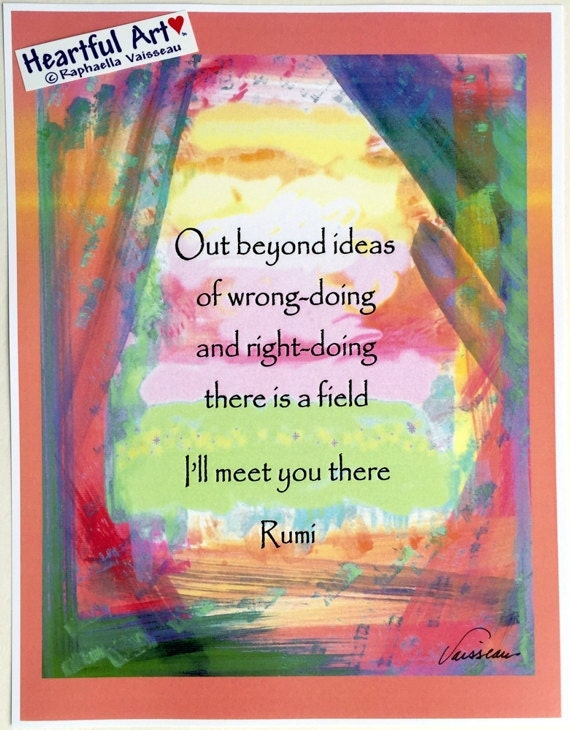 Rumi quotes out beyond