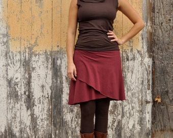 Organic Cotton Lycra Jersey & Hemp Wrap Skirt