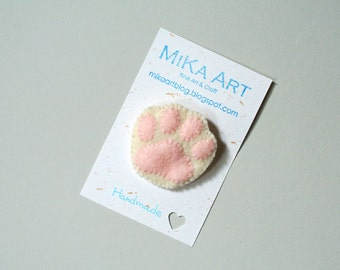 Cat Paw Brooch Gift for Cat Lover Unique Gift for Pet Lovers Felt Animal Accessory Cute Cat Crazy Cat Lady Gift Handmade Cat Gift For Her