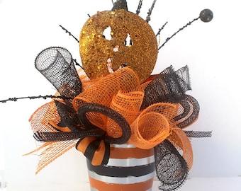 Halloween Party Centerpiece, Pumpkin arrangement, halloween decor, halloween party decorations, table arrangements, table decorations