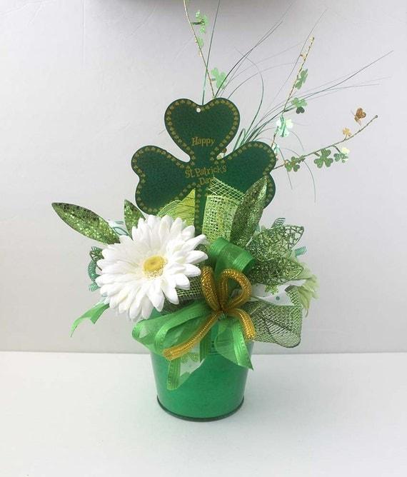 St Patricks Day Arrangement Floral Arrangement Green