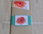 Boarding Pass Invitation or Save the Date Design Fee (Coral, Blue, & Gold Hawaiian Hibiscus Design)