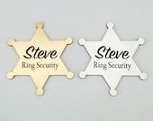 Ring Security, Ring Bearer Gift, Ring Bearer Security Badge, Personalized Ring Bearer Badge, Wedding Gift, Groomsmen Gifts, 3 Designs