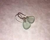 Sea Glass Earrings -Seafoam Seaglass -Sterling Silver Beach Glass Jewelry