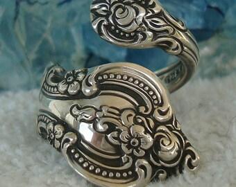 Vintage 1964 Towle Sterling Silver Spoon Ring    El Grande   dmfsparkles