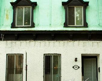 BOGO (Buy one, get one free) - Teal House - Borderless print - Fine art photography