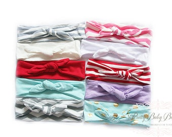 Baby Girl Knot Headband - Baby Headwrap - Baby Tie Knot Head Wrap - Turban Headband - Fabric Baby Headband