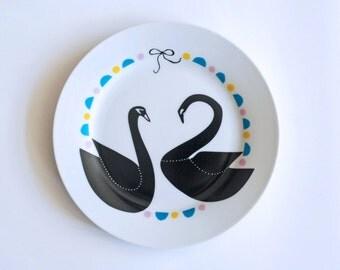 Swan couple breakfast plate