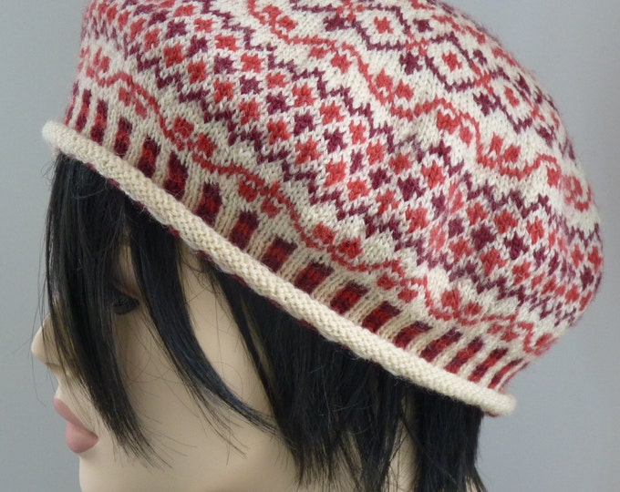 pdf pattern for the Vaasetter Hat and Mitts