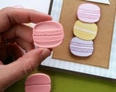 Small Macaron (Set of Two) - Hand Carved Rubber Stamps