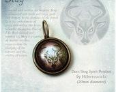 Deer / Stag Spirit -- Brass Animal Totem Pendant