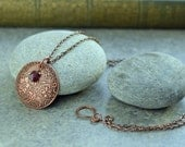 Recycled Copper and Faceted Garnet Necklace