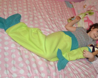 "18"" doll mermaid tail blanket READY TO SHIP"