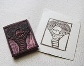 E.T. the Extra-Terrestrial Rubber Stamp // Handmade Stamp