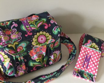 New! MEDIUM size Digital Canon Nikon Padded Camera Bag with Camera Strap Cover by Watermelon Wishes