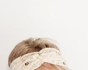 TopTwist Headband - Turban Headband - Vintage Stretch Fabric - Floral Headband Headwrap