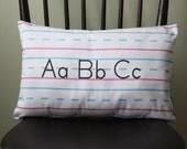 Penmanship Pillow - ABCs, Print // Handwriting // Teacher Gift // First Second Third Grade // Kindergarten // School Classroom Decor