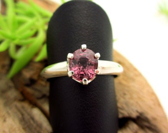 Spinel  Ring in Sterling Silver, Light Blackberry Pink Gemstone - Free Gift Wrapping