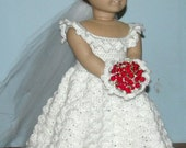 18 inch American Girl Crochet Pattern - Bride's Ensemble